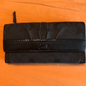 Coach Wallet (folds open)